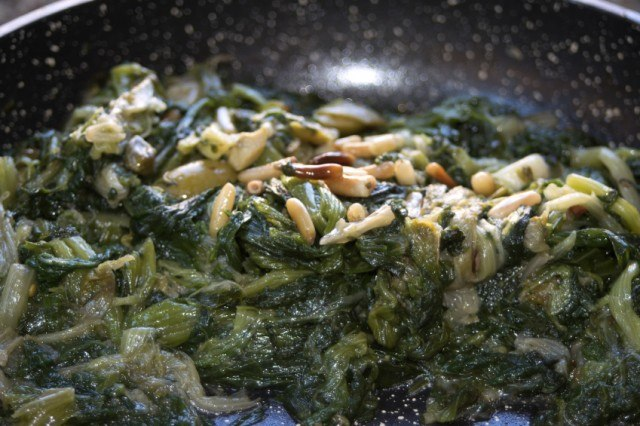 swiss chard with pine nuts