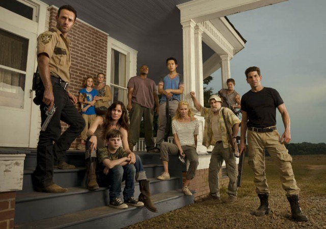 The cast of The Walking Dead's second season.