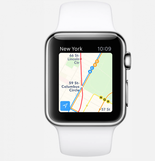 watchOS 2 enables Apple Watch to give transit information with Maps