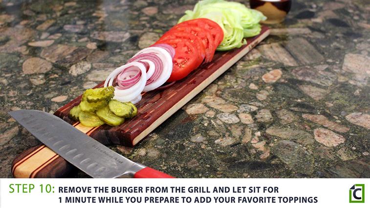 step 10: burger