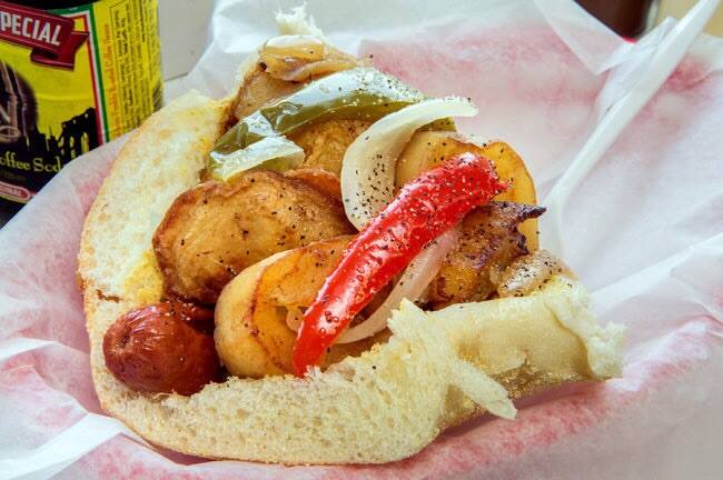 italian-style hot dog