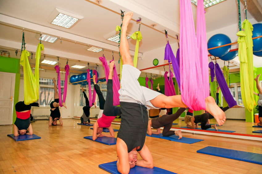 Aerial yoga, exercise