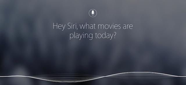 Asking Siri a question