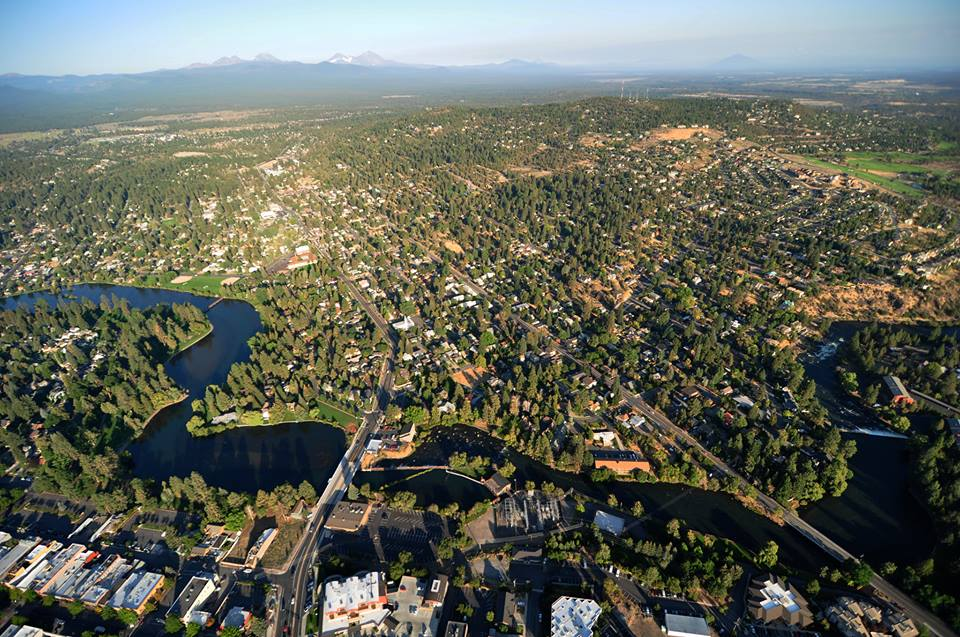 Aerial view of Oregon