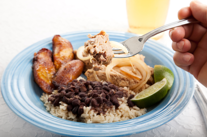 Cuban marinated pork and rice