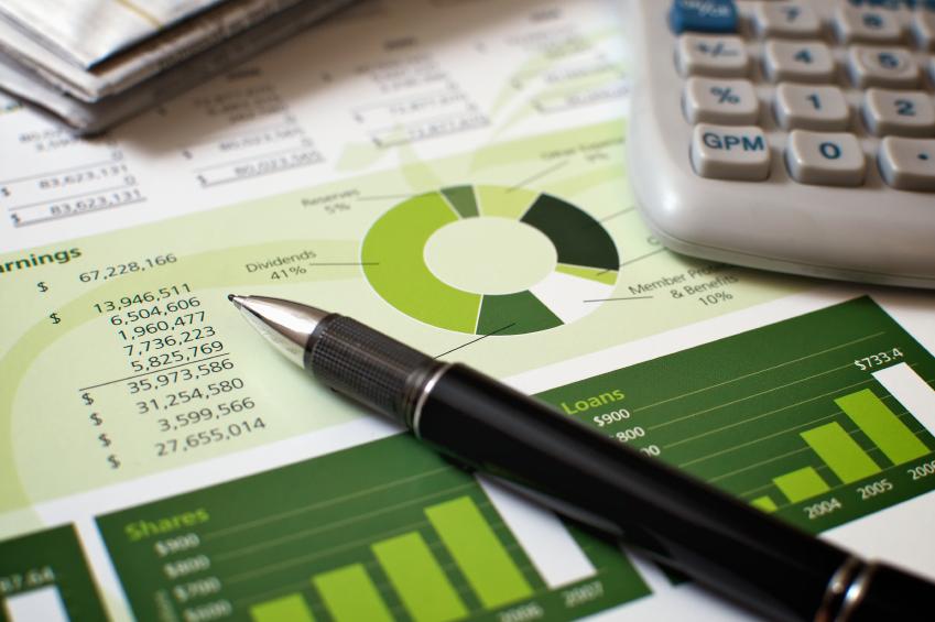 A finance professional's desk