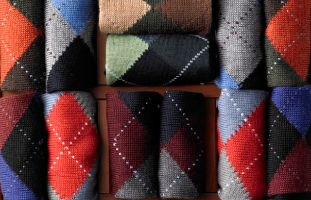 Brooks Brothers argyle socks