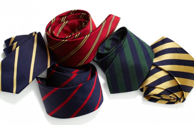 Brooks Brothers repp ties