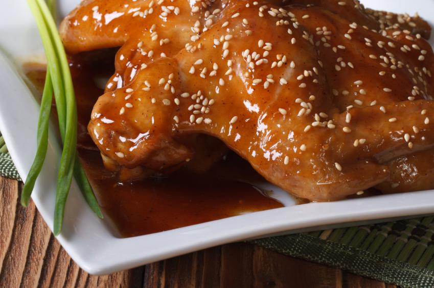 Honey sesame chicken wings