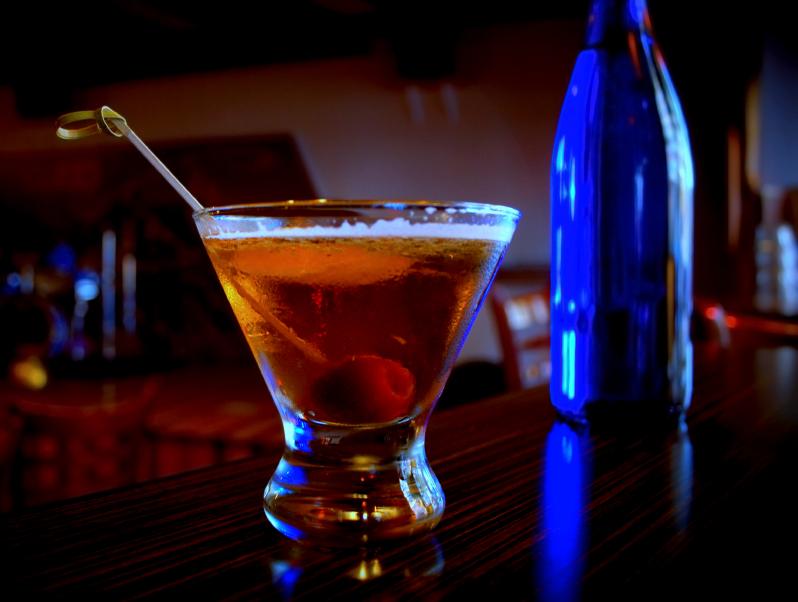 Cocktail, drink, Manhattan