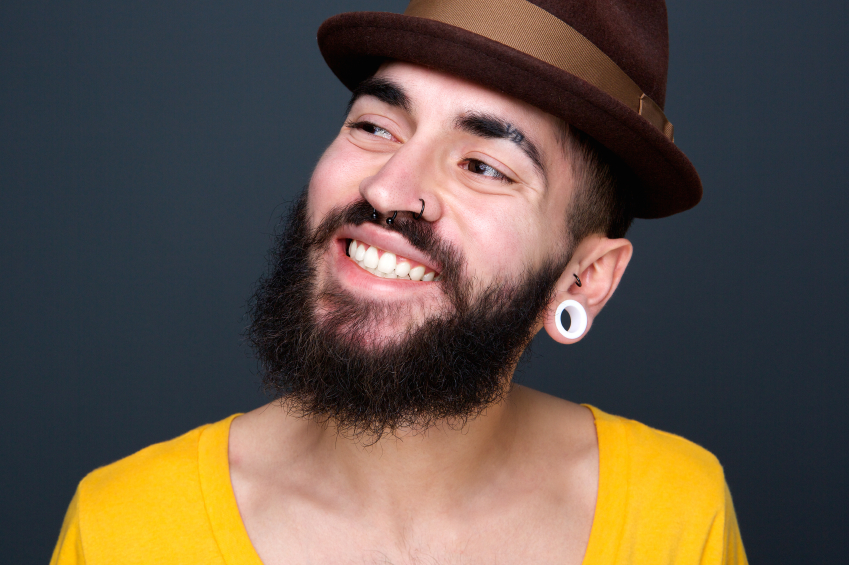 man with piercings