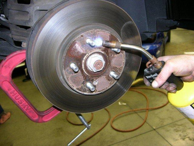 Rusty rear rotors