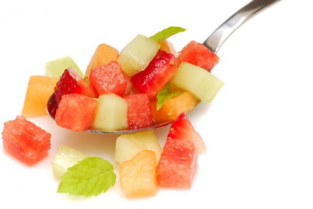 spoonful of fruit salad