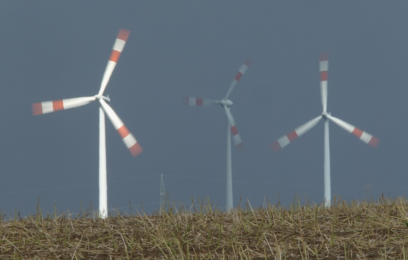 German wind turbines generate electricity for nearby houses