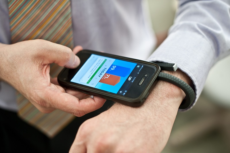 a man using a fitness tracker