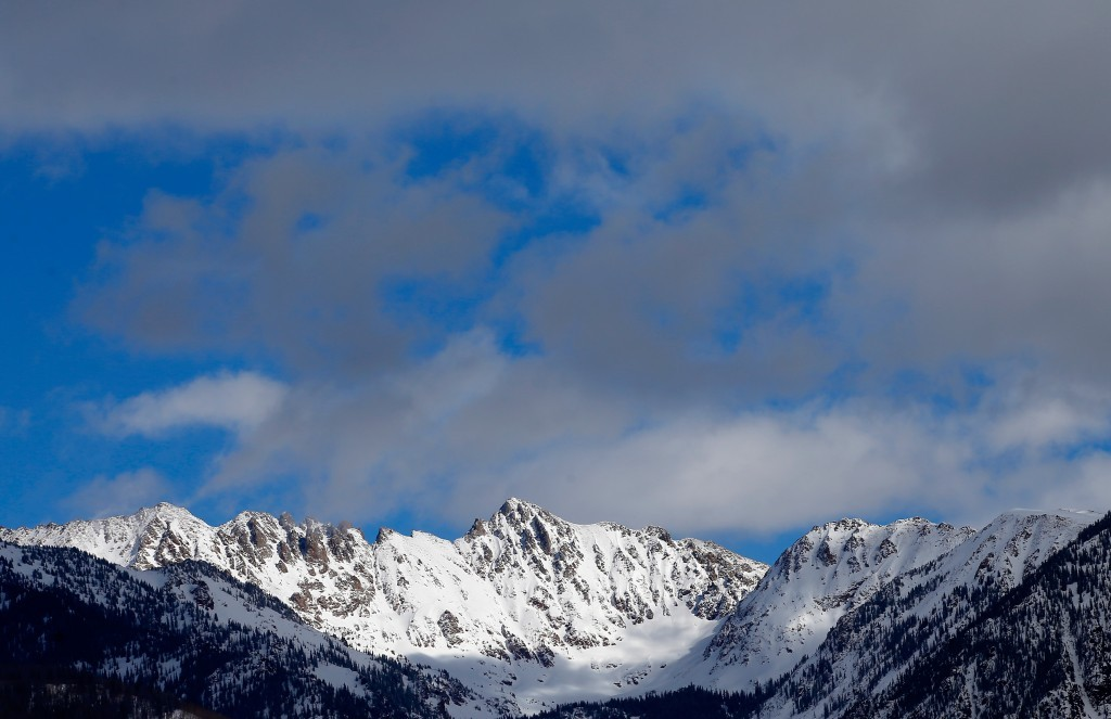 Rocky Mountains covered in snow