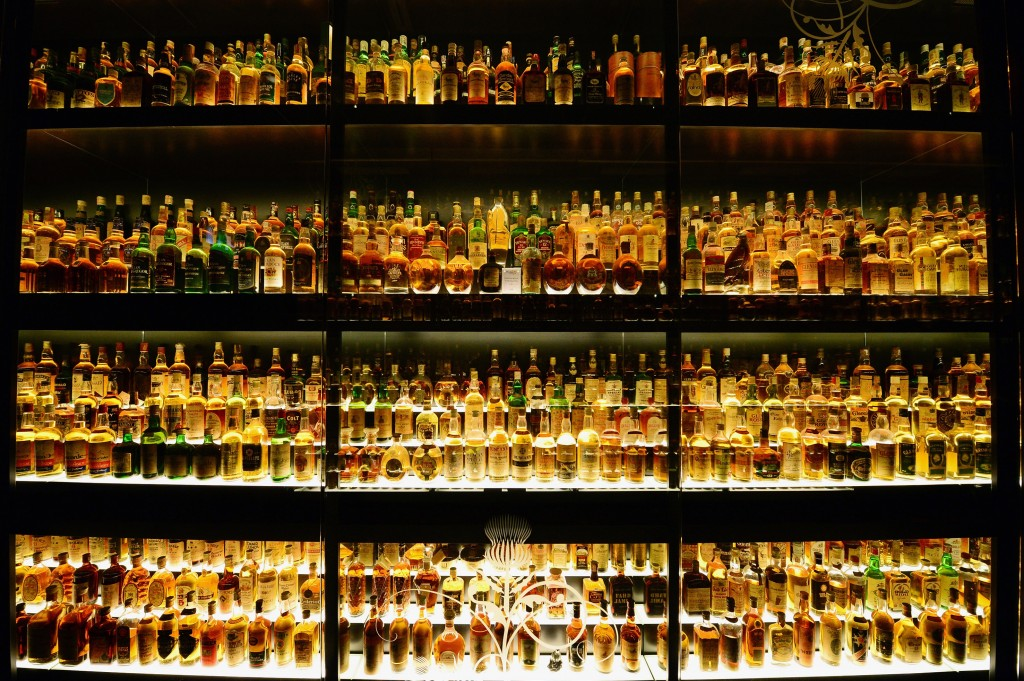 bottles of scotch whiskey