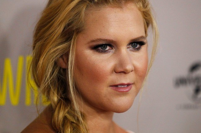 A close up of Amy Schumer on a red carpet.