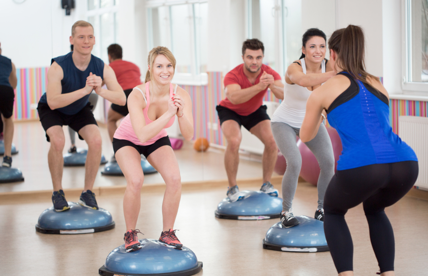 A balance training and fitness class