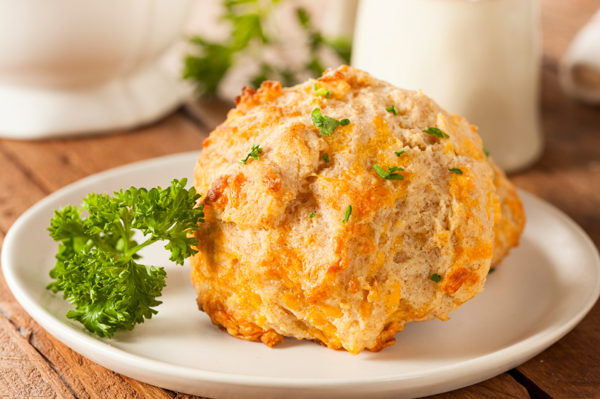 cheddar biscuit with parsley