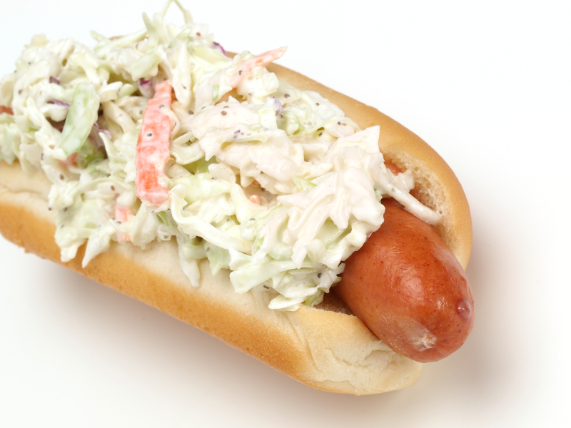 Coney Island Hot Dog With Coleslaw