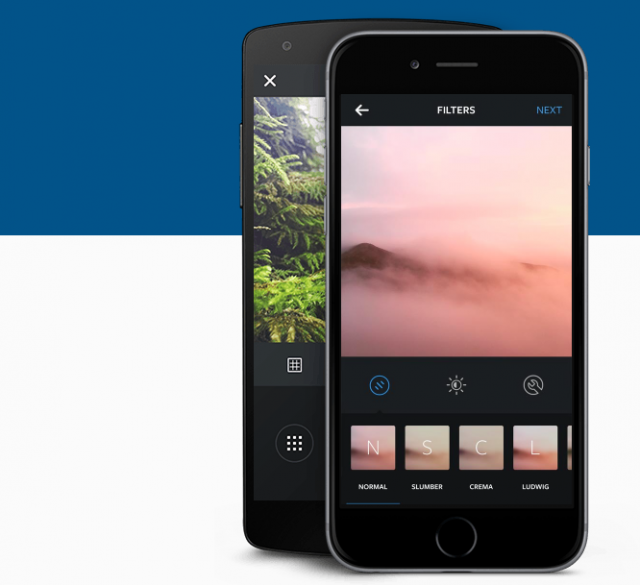 Instagram app filters