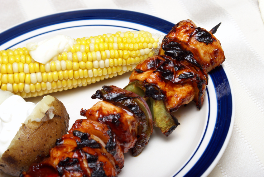 glazed chicken kebabs
