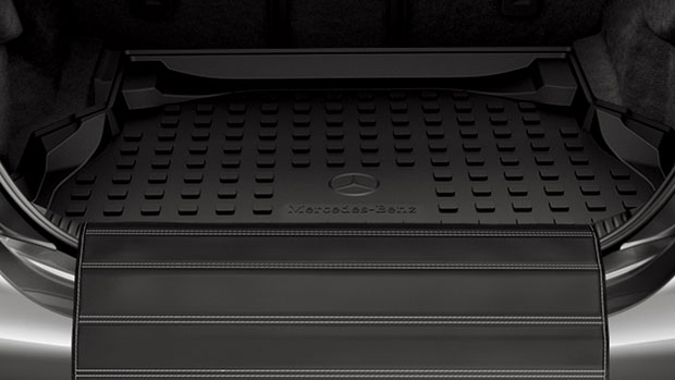 The optional bumper sill protector is a great way to guarantee that the rear sill remains scratch-free | Mercedes-Benz