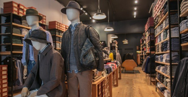 Mannequins at Unionmade menswear store
