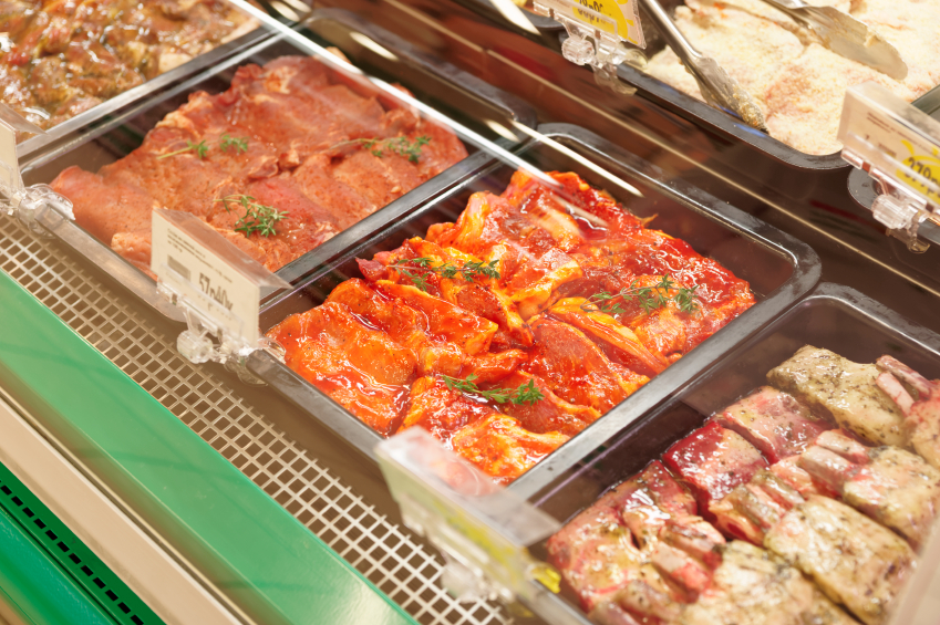 grocery store, marinated meat