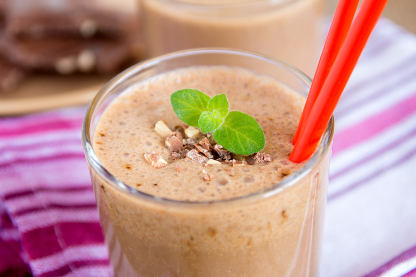 delicious peanut butter smoothie