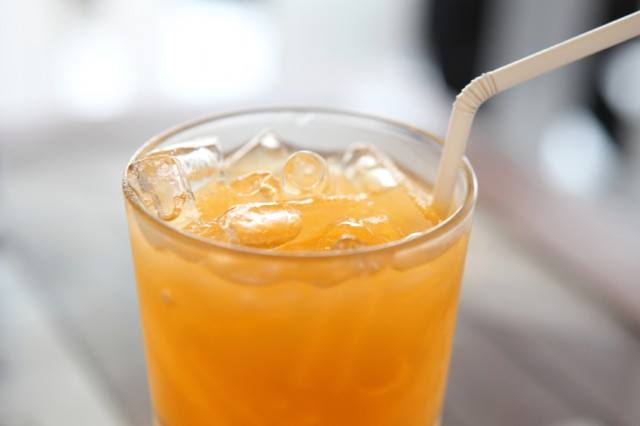 cocktail or juice drink with oranges