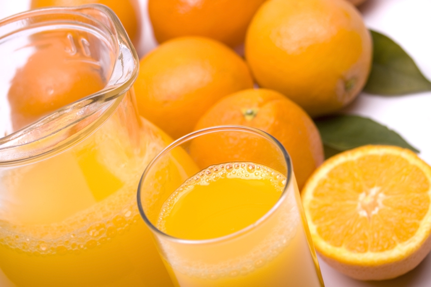 freshly squeezed orange juice has lots of sugar which can increase blood pressure