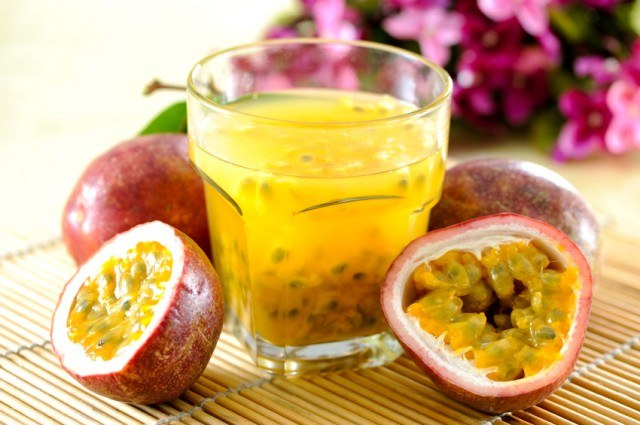 passion fruit and juice