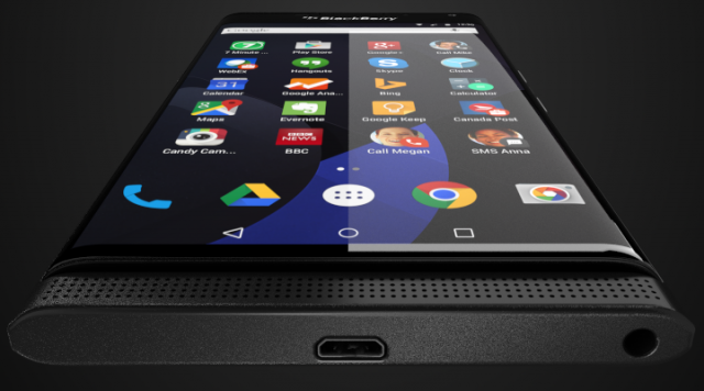 Press rendering of BlackBerry 'Venice' running Google Android, tweeted by Evan Blass