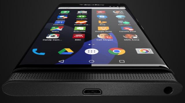Press rendering of BlackBerry 'Venice' running Google Android, tweeted by Evan Blass