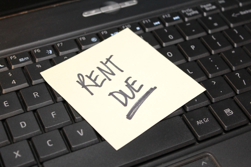 rent due post-it