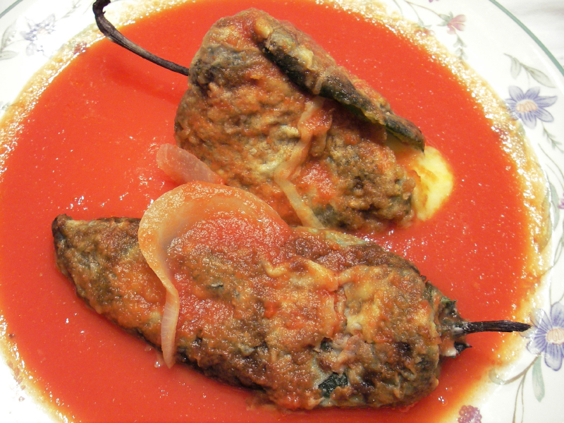 stuffed poblanos, peppers