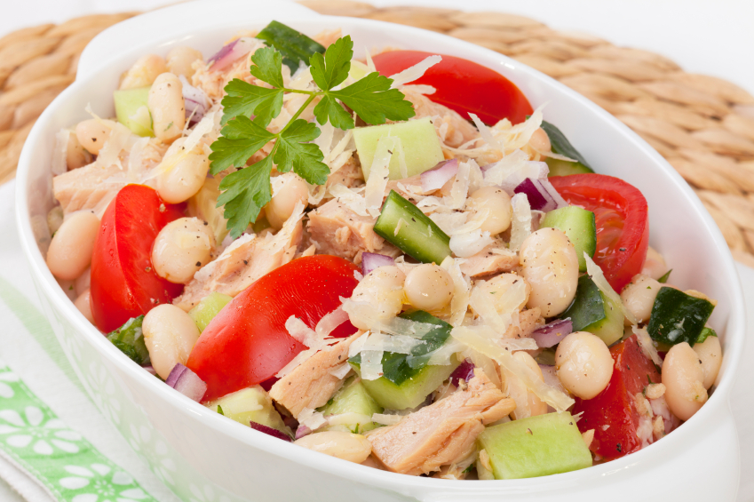 tuscan white bean and tuna salad