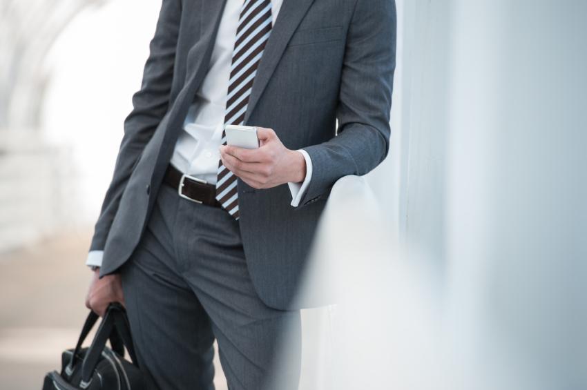 Businessman wearing suit