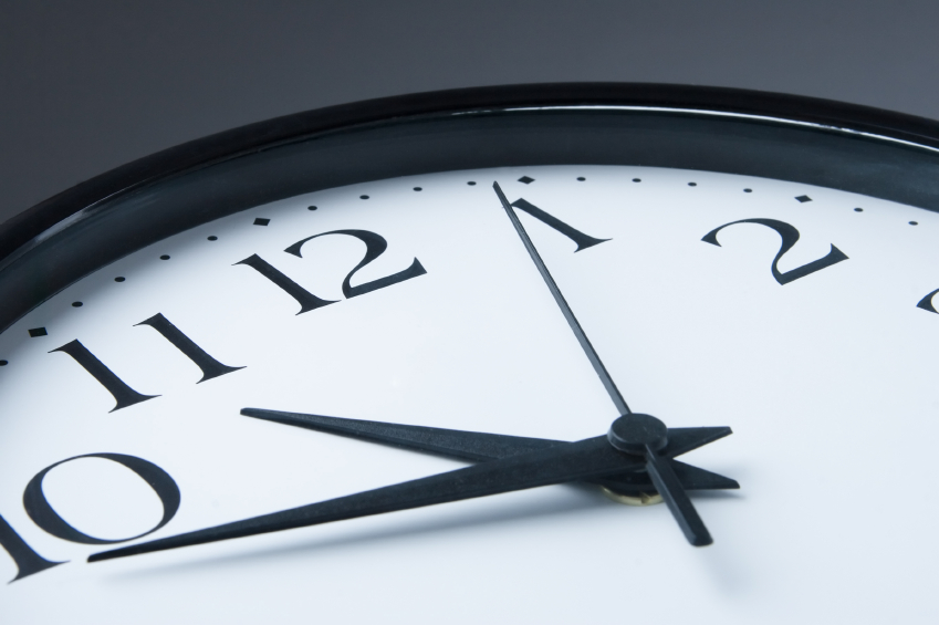 A clock; punching one may become a different experiment with more part-time work