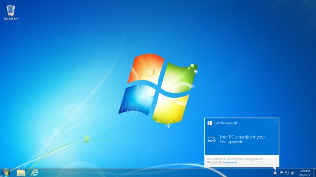 Windows 10 upgrade screen