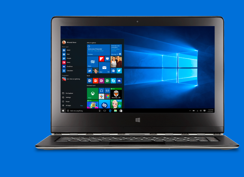 Laptop running Windows 10