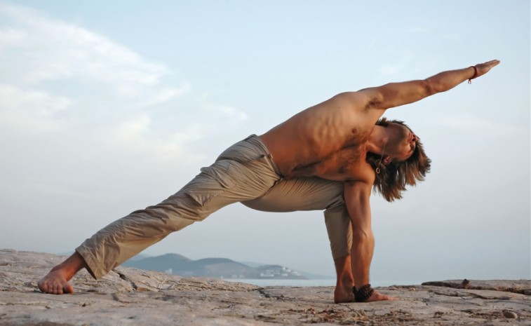 Guy yoga Nude Photos 28