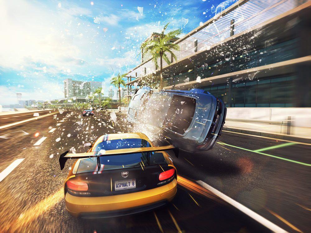 Car crash in Asphalt 8