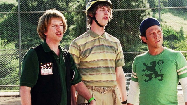 David Spade, Jon Heder, and Rob Schneider in 'The Benchwarmers'