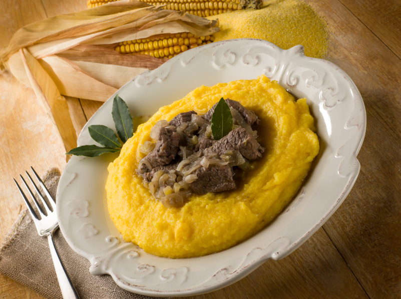 braised pork, polenta
