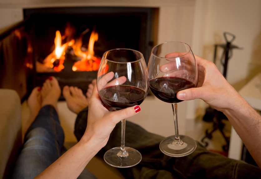 home, wine, relaxing