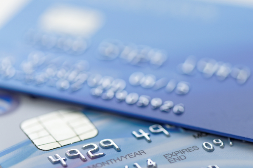close up of credit cards