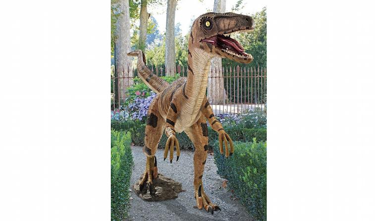 Design Toscano Velociraptor, Jurassic-sized Dinosaur Statue, Multicolored